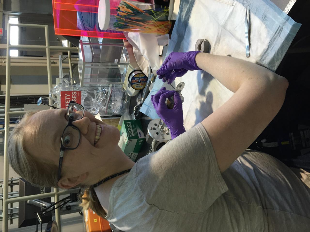 Jen mounting sample for ARCS